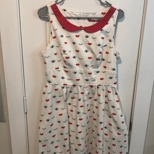 ModCloth dress with pockets! Worn twice!
